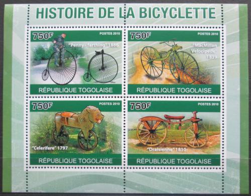 Poštovní známky Togo 2010 Historie cyklistiky Mi# 3749-52 Kat 12€