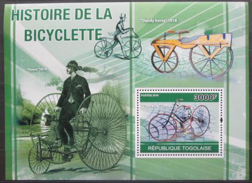 Poštovní známka Togo 2010 Historie cyklistiky Mi# Block 560 Kat 12€