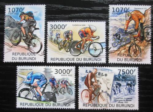 Poštovní známky Burundi 2012 Cyklistika Mi# 2461-65 Kat 10€