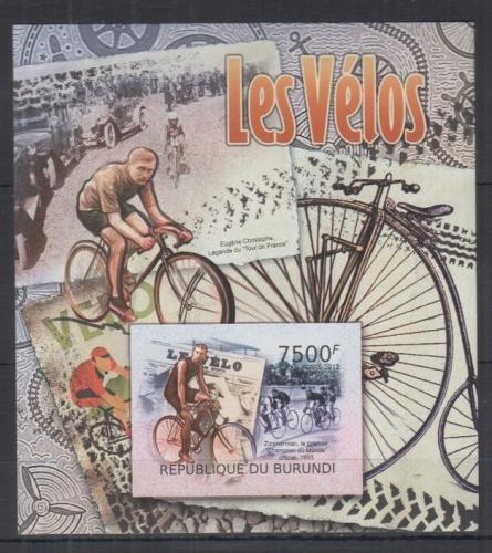 Poštovní známka Burundi 2012 Cyklistika neperf. Mi# Block 225 B