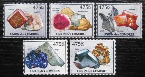 Poštovní známky Komory 2011 Minerály Mi# 2939-43 Kat 12€