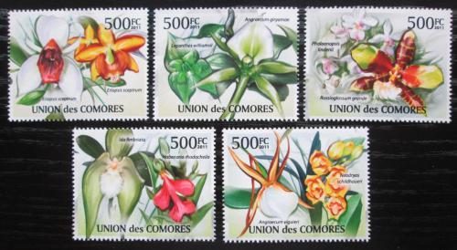 Poštovní známky Komory 2011 Orchideje Mi# 2953-57 Kat 12€