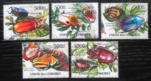 Poštovní známky Komory 2011 Brouci Mi# 2965-69 Kat 12€