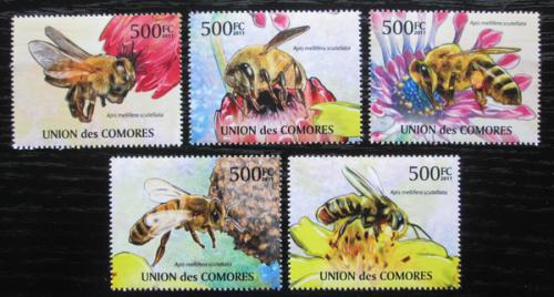 Poštovní známky Komory 2011 Africké vèely Mi# 2995-99 Kat 12€