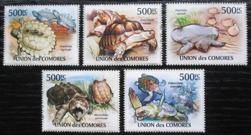 Poštovní známky Komory 2011 Želvy Mi# 3007-11 Kat 12€