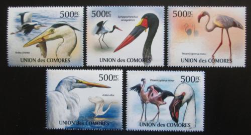 Poštovní známky Komory 2011 Velcí vodní ptáci Mi# 3023-27 Kat 12€