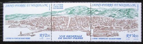 Poštovní známky St. Pierre a Miquleon 1990 Pohled na mìsto TOP SET Mi# 602-03