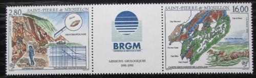 Poštovní známky St. Pierre a Miquleon 1995 Geologický prùzkum Mi# 697-98 Kat 10€