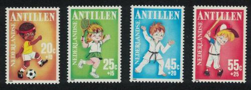 Poštovní známky Nizozemské Antily 1986 Dìti a sport Mi# 596-99