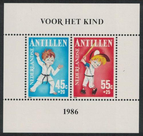 Poštovní známky Nizozemské Antily 1986 Dìti a sport Mi# Block 30