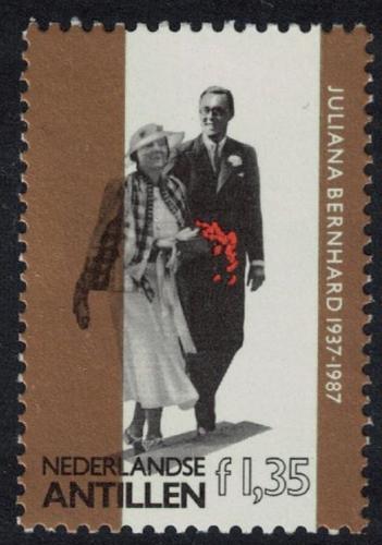 Poštovní známka Nizozemské Antily 1987 Královská svatba Mi# 604