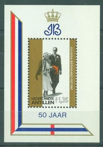 Poštovní známka Nizozemské Antily 1987 Královská svatba Mi# Block 31