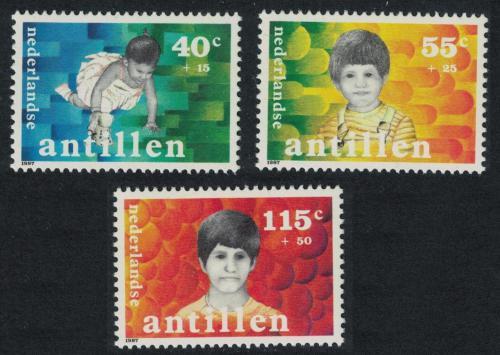 Poštovní známky Nizozemské Antily 1987 Dìti Mi# 619-21 Kat 5.50€