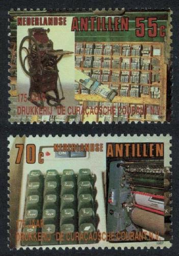 Poštovní známky Nizozemské Antily 1987 Státní tiskárna, 175. výroèí Mi# 625-26