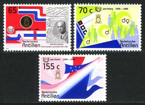 Poštovní známky Nizozemské Antily 1988 Parlament, 50. výroèí Mi# 632-34