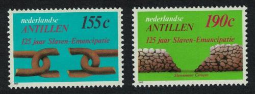Poštovní známky Nizozemské Antily 1988 Zrušení otroctví, 125. výroèí Mi# 638-39