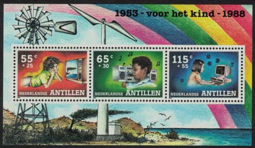 Poštovní známky Nizozemské Antily 1988 Volný èas dìtí Mi# Block 33