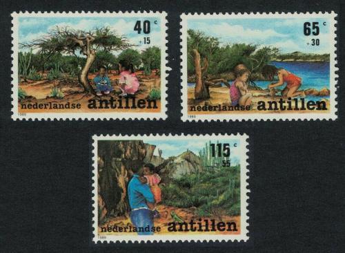 Poštovní známky Nizozemské Antily 1989 Dìti Mi# 664-66