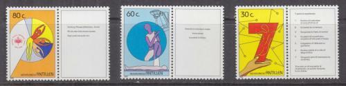 Poštovní známky Nizozemské Antily 1989 Boj proti rakovinì Mi# 668-70