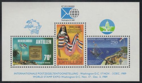 Poštovní známky Nizozemské Antily 1989 Výstava WORLD STAMP EXPO Mi# Block 35
