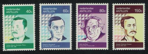 Poštovní známky Nizozemské Antily 1990 Spisovatelé Mi# 690-93