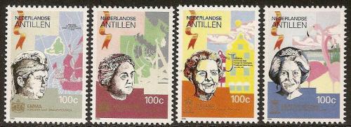 Poštovní známky Nizozemské Antily 1990 Královny Mi# 694-97 Kat 7€