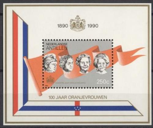 Poštovní známka Nizozemské Antily 1990 Královny Mi# Block 36 Kat 8€