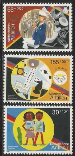 Poštovní známky Nizozemské Antily 1991 Mládežnické organizace Mi# 714-16 Kat 6€