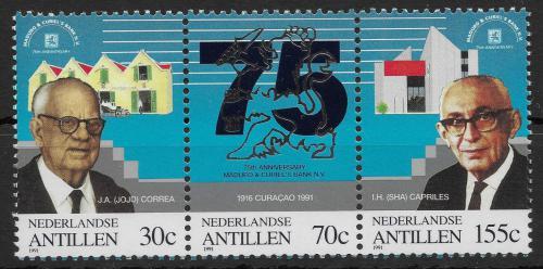 Poštovní známky Nizozemské Antily 1991 Bankéøi Mi# 736-38