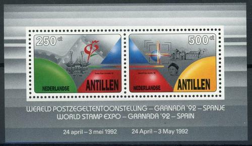 Poštovní známky Nizozemské Antily 1992 Výstavy známek Mi# Block 38 Kat 13€