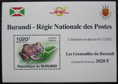 Poštovní známka Burundi 2011 Žába DELUXE Mi# 2062 Block