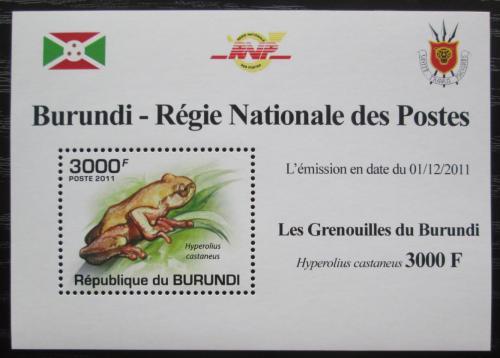 Poštovní známka Burundi 2011 Žába DELUXE Mi# 2064 Block