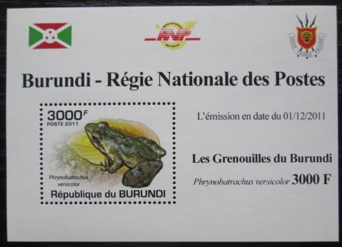 Poštovní známka Burundi 2011 Žába DELUXE Mi# 2065 Block