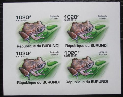 Poštovní známky Burundi 2011 Žáby neperf. Mi# 2062 B Bogen