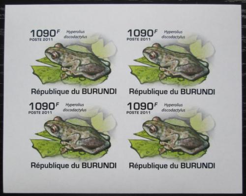 Poštovní známky Burundi 2011 Žáby neperf. Mi# 2063 B Bogen