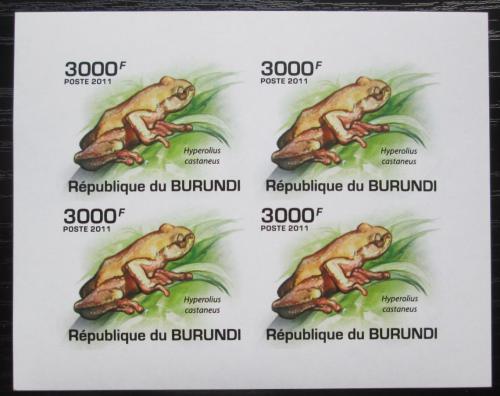Poštovní známky Burundi 2011 Žáby neperf. Mi# 2064 B Bogen