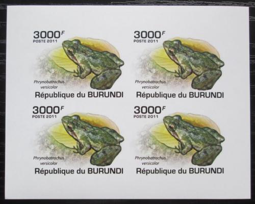 Poštovní známky Burundi 2011 Žáby neperf. Mi# 2065 B Bogen