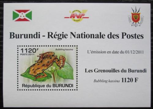Poštovní známka Burundi 2011 Žába DELUXE Mi# 2066 Block