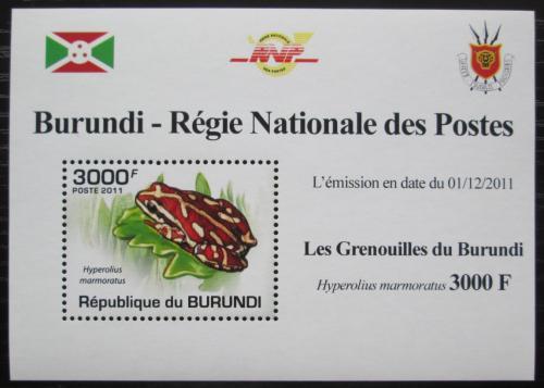 Poštovní známka Burundi 2011 Žába DELUXE Mi# 2069 Block