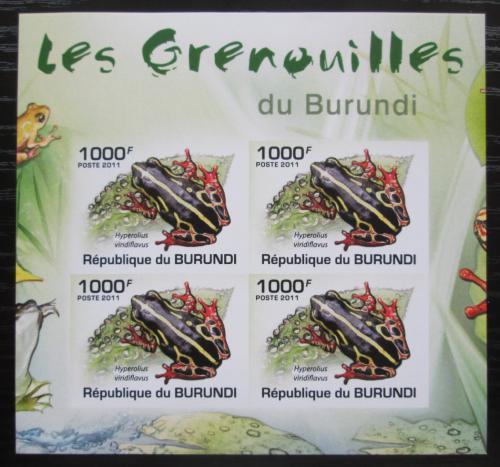 Poštovní známky Burundi 2011 Žáby neperf. Mi# 2066 B Bogen