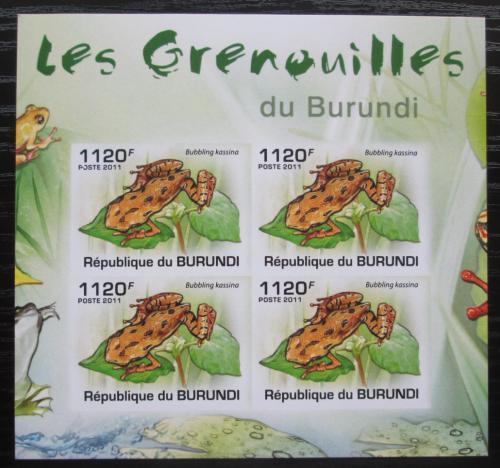 Poštovní známky Burundi 2011 Žáby neperf. Mi# 2067 B Bogen