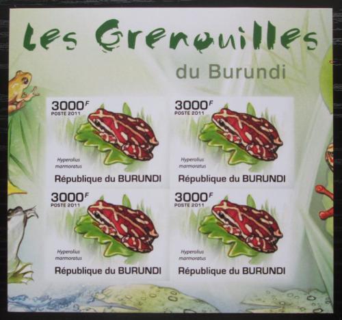 Poštovní známky Burundi 2011 Žáby neperf. Mi# 2069 B Bogen