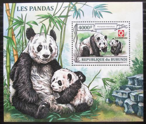 Poštovní známka Burundi 2013 Pandy Mi# N/N Kat 9€