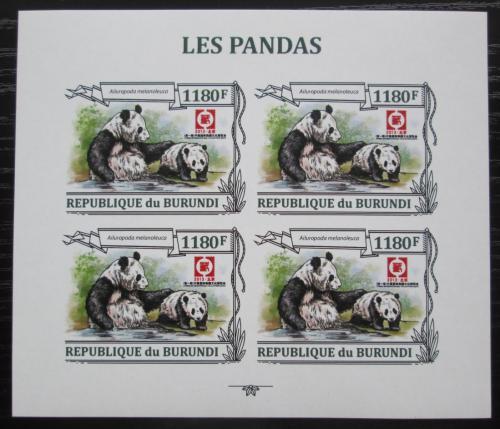 Poštovní známky Burundi 2013 Pandy neperf. Mi# N/N