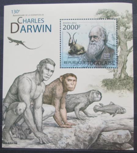 Poštovní známka Togo 2012 Charles Darwin Mi# Block 721 Kat 8€