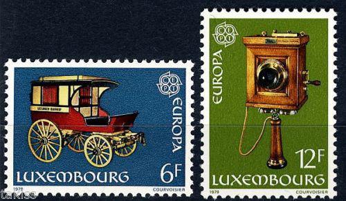 Poštovní známky Lucembursko 1979 Evropa CEPT, historie pošty Mi# 987-88