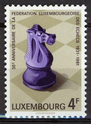 Poštovní známka Lucembursko 1981 Šachový svaz, 50. výroèí Mi# 1033