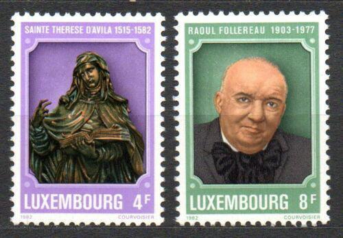 Poštovní známky Lucembursko 1982 Osobnosti Mi# 1054-55
