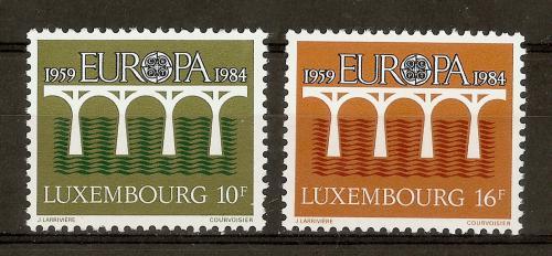 Poštovní známky Lucembursko 1984 Evropa CEPT Mi# 1098-99 Kat 4.50€