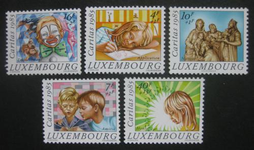 Poštovní známky Lucembursko 1985 Vánoce, dìti Mi# 1138-42 Kat 14€